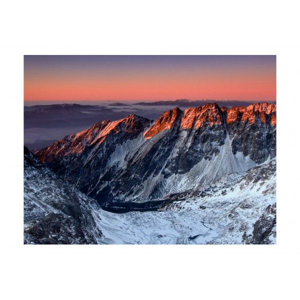 Fototapeta - Beautiful sunrise in the Rocky Mountains