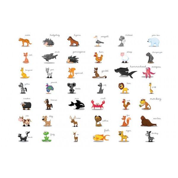 Fototapeta - Learning by playing (animals)