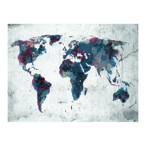 Fototapeta - World map on the wall
